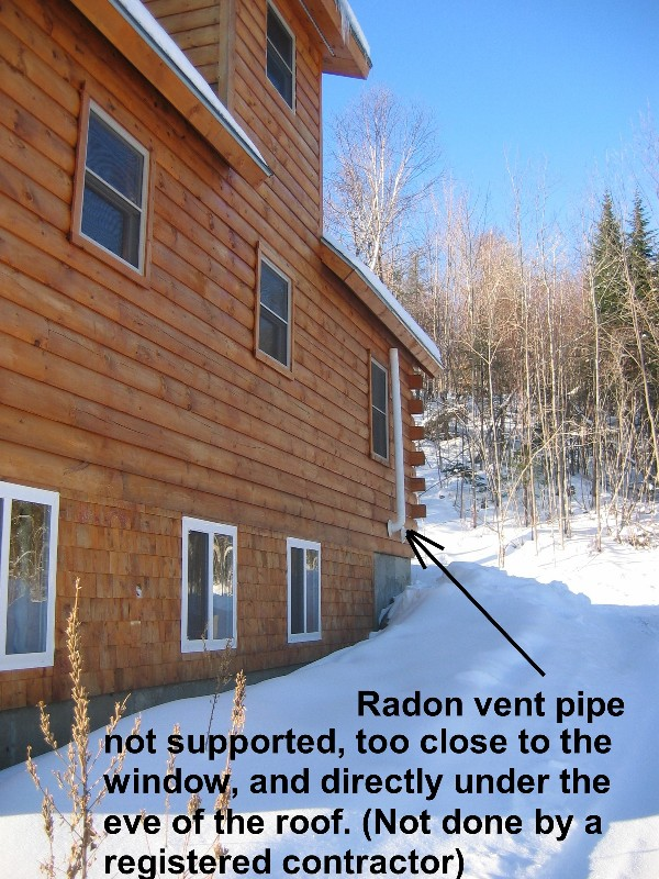 Work by Registered Radon Contractors